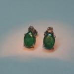 cercei cu smaralde