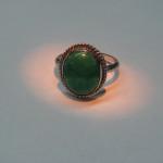 inel argint cu jadeita