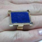 inel aur alb cu Lapis lazuli
