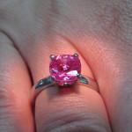 inel aur alb cu safir roz 2