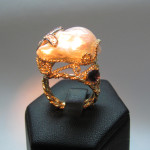 inel aur cu perla baroc