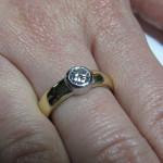 inel aur galben cu diamant