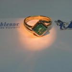 inel aur galben cu smarald 2