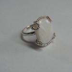 inel cu sidef din argint