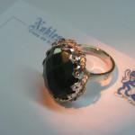 inel din argint executat manual