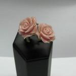 inel duo cu floare de coral
