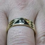 inel masonic din aur galben