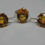 set aur galben cu topaz auriu