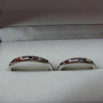 verighete aur alb cu pietre pretioase